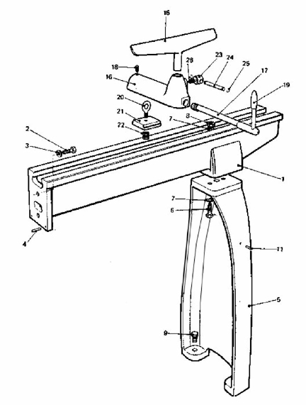 L.R.E Machinery & Equipment Co. Bed and Leg assembly